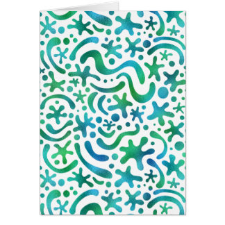Under the Sea Funky Blob & Squiggle Pattern Card