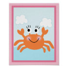 Under the Sea/ Girl /Sealife/Pink Art Poster