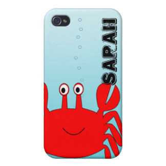 Under the Sea Happy Crab iPhone Cover Cover For iPhone 4