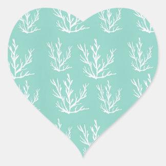 under the sea heart sticker