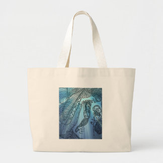 Under the sea large tote bag