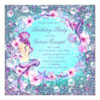 Birthday invitations announcements zazzle ca under the sea mermaid birthday invitations stopboris Images