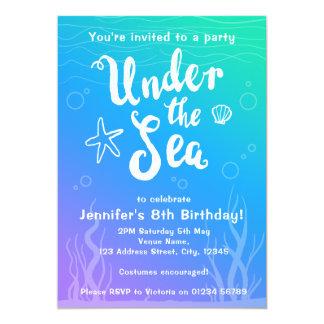 Under the sea mermaid kids party invitation