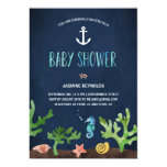 "Under the Sea | Nautical Baby Shower 5"" X 7"" Invitation Card"