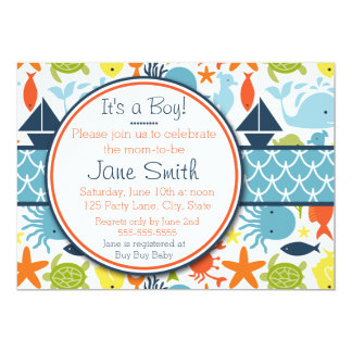 Under the Sea, Nautical Baby Shower Card