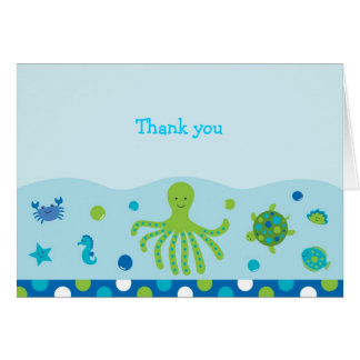Under the Sea Nautical Thank You Note Cards