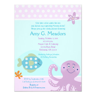 Under the Sea Ocean Baby Shower Invitation