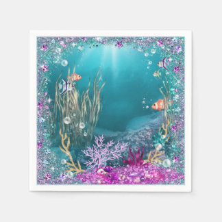 Under the Sea Ocean Napkins Paper Napkin