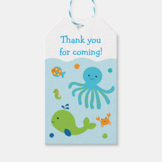 Under The Sea Party Favor Tags