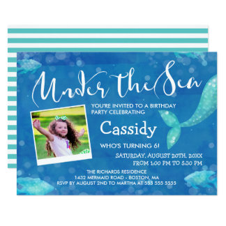 Under the Sea - Photo - Kids Birthday Party Card