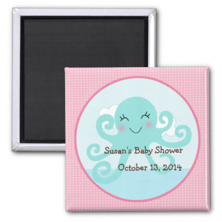 Under the Sea/Pink Octopus Magnet/Party Favor Square Magnet