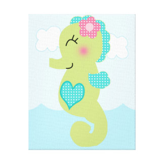 Under the Sea/Pink Whale Canvas Art