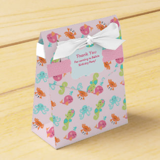 Under the Sea Pink Whale Favor Box