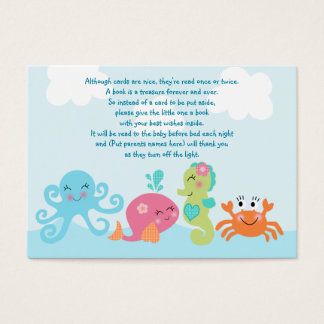 Under the Sea/Pink Whale Favor Tag/Card Business Card