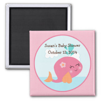 Under the Sea/Pink Whale Magnet/Party Favor Magnet