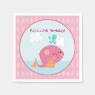 Under the Sea Pink Whale Napkin Disposable Napkin