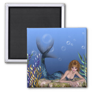 Under the Sea Redheaded Mermaid Magnet