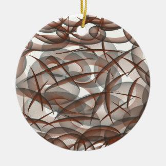 Under the sea round ceramic ornament