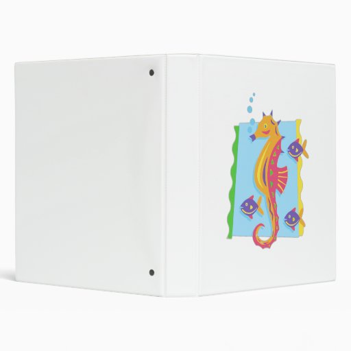 Under the Sea seahorse Vinyl Binder