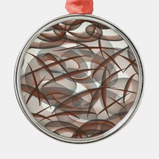 Under the sea Silver-Colored round ornament