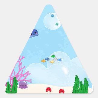 Under the Sea Triangle Sticker