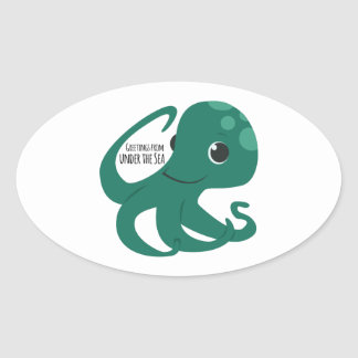 Under The Sea Oval Stickers