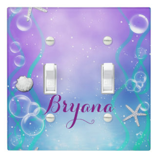 Under The Sea Tropical Ocean Bubbles Mermaid Decor Light Switch Cover