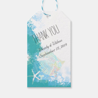Under the Sea Turquoise Thank You Favor Pack Of Gift Tags