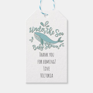 Under the Sea Whale Baby Shower Favor tags
