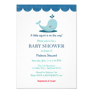 Under the Sea Whale Baby Shower invitation