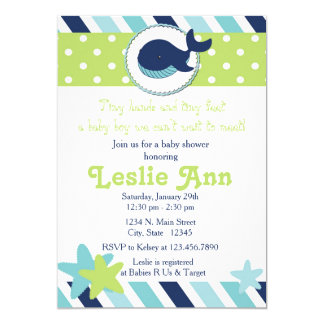 Under the Sea Whale Blues Baby Shower Invitation