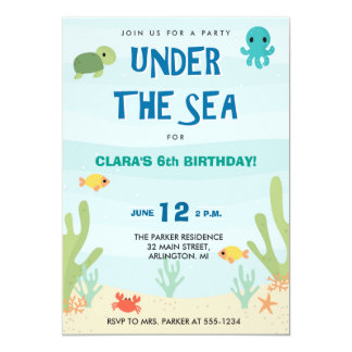 Under The Sea Wonder Card
