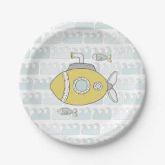 Under the sea Yellow Submarine Paper Plates
