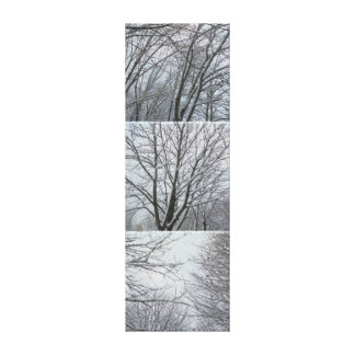Under the snow. Branches Canvas Print