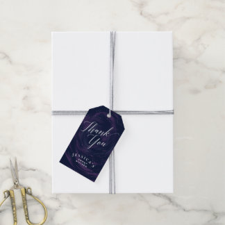 Under the Stars Elegant Midnight Sky Thank You Tag Pack Of Gift Tags