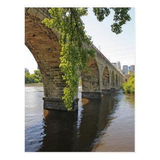 Under The Stone Arch Bridge Postcard