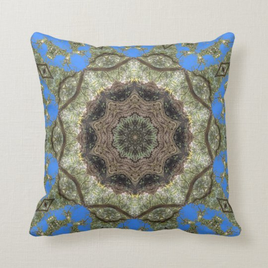 Under The Veranda. Throw Pillow