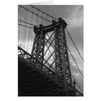 Under The Williambsburg Bridge-New York City Card