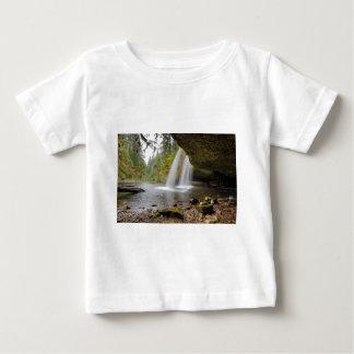 Under Upper Butte Creek Falls in Autumn Baby T-Shirt