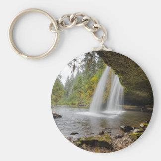 Under Upper Butte Creek Falls in Autumn Keychain