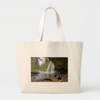 Under Upper Butte Creek Falls in Autumn Large Tote Bag