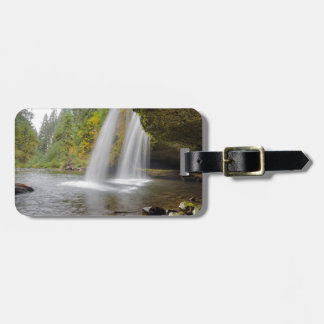 Under Upper Butte Creek Falls in Autumn Luggage Tag
