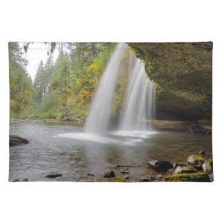 Under Upper Butte Creek Falls in Autumn Placemat