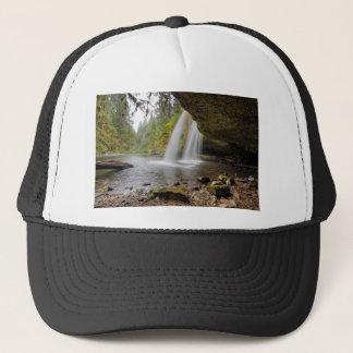 Under Upper Butte Creek Falls in Autumn Trucker Hat
