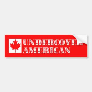 Undercover American Bumper Sticker