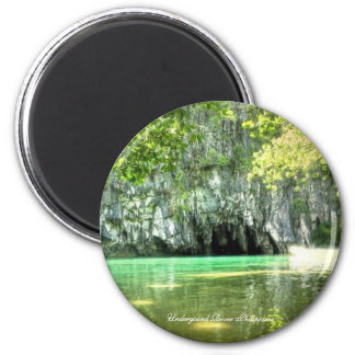Undergound River Philippines Round Magnet