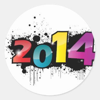Underground New year design . 2014 Round Sticker