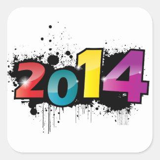 Underground New year design . 2014 Square Sticker