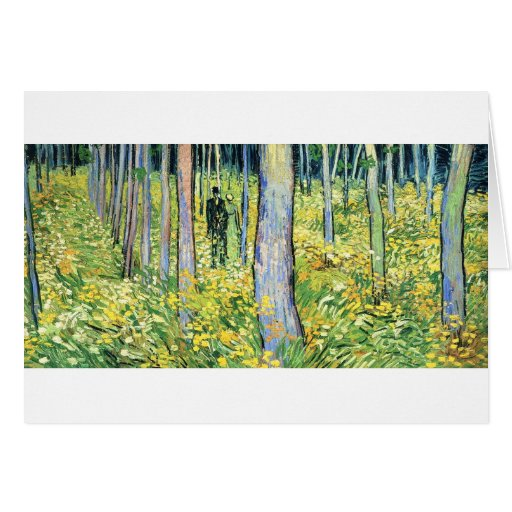 Undergrowth with a Couple - Vincent Van Gogh Greeting Cards