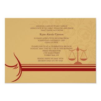 """Underscore Law School Graduation Announcement/ Inv 5"""" X 7"""" Invitation Card"""